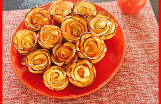 Mes Roses feuilletées aux Pommes