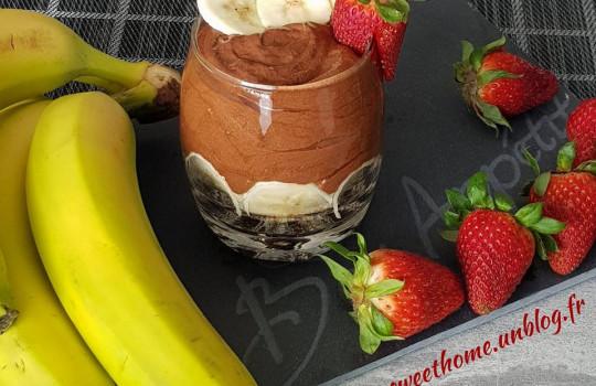 Ma Mousse au chocolat – Banane – Spéculoos